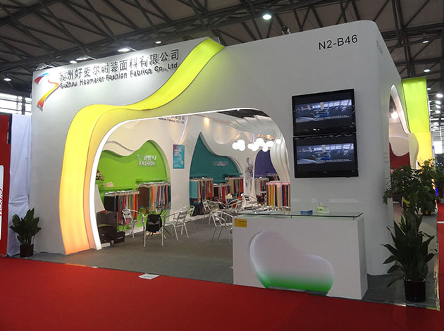 Wooden Exhibition Booth : Wood booth ㎡shanghai exhibition khanbrand